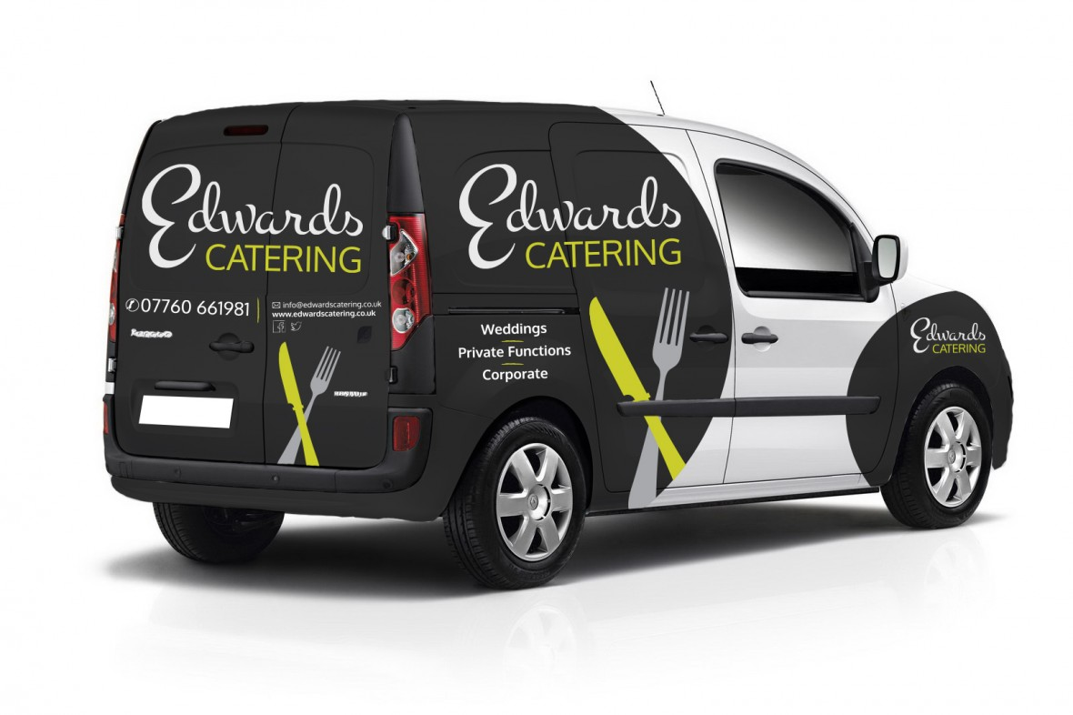 edwards catering vehicle graphics design image