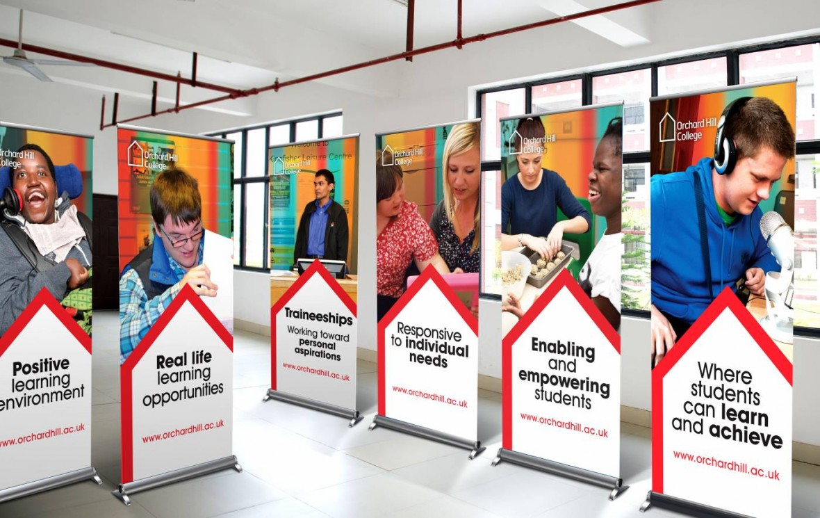Exhibition Stand Design Scotland : College pull up banners