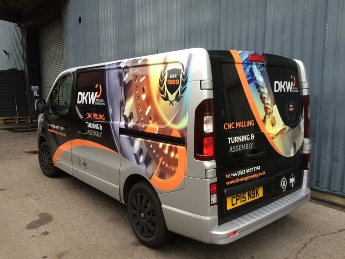 by wrapping their van in stunning and eye catching van graphics