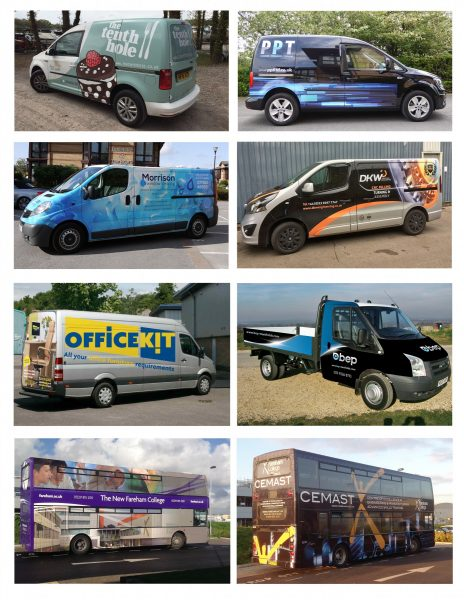 Vehicle Advertising Graphics - Portsmouth Hampshire